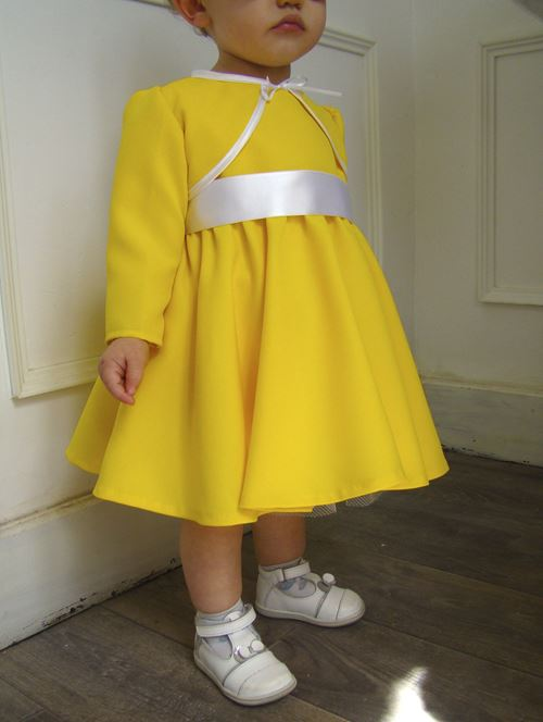 Robe de ceremonie fille jaune